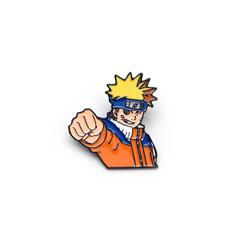De dibujos animados broches Anime NARUTO UZUMAKI NARUTO esmalte Pin para niños solapa Pin sombrero/bolsa pines Denim chaqueta camisa broche insignia S52