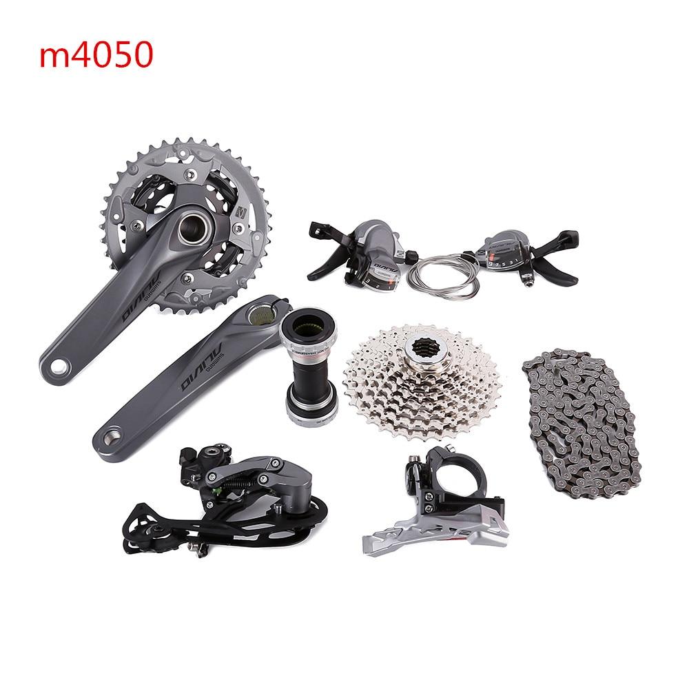 SHIMANO ALIVIO M4000 M4050 T4060 3x9S 27S velocidad MTB bicicleta grupo con freno de disco hidráulico integrado FC-M4050 FC-T4060