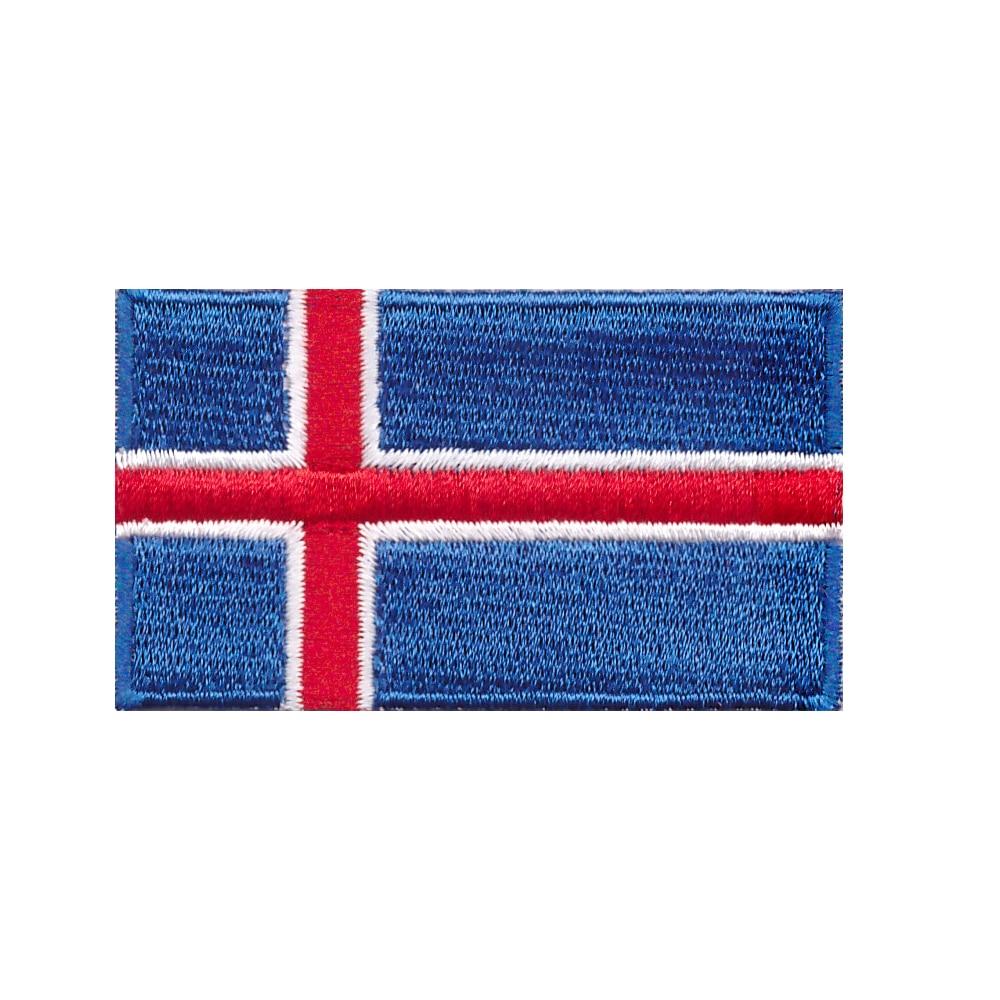 10 Uds nueva producción de ropa de bordado de bandera nacional islandesa caliente o parches decorativos de hierro
