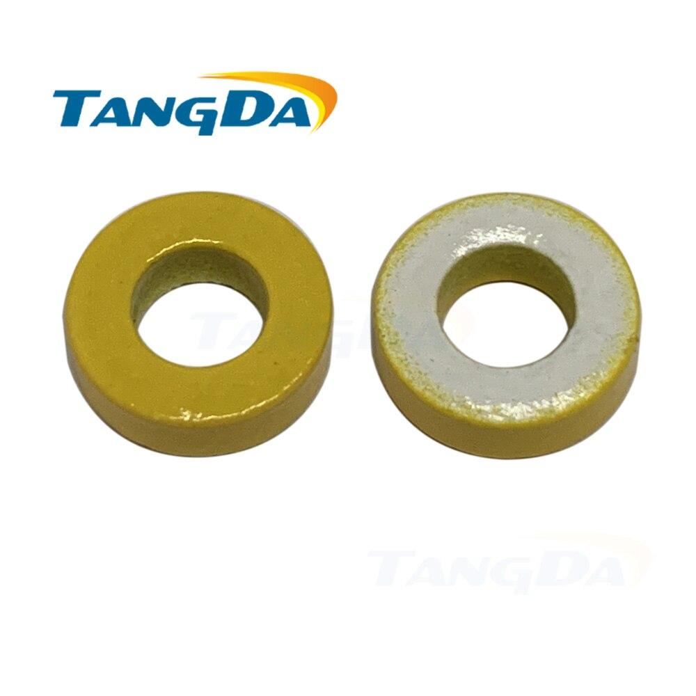 T37 26 hierro polvo núcleo T37-26 OD * ID * HT 9,6*5,2*3,5mm 28 5nH/N2 75ue de hierro en polvo de ferrita Toroid núcleo toroidal Amarillo Blanco AG