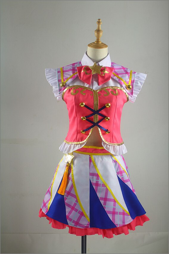 ¡Anime Aikatsu,! Cosplay COS Hoshimiya Ichigo Halloween fiesta hombre mujer Cosplay disfraces envío gratis