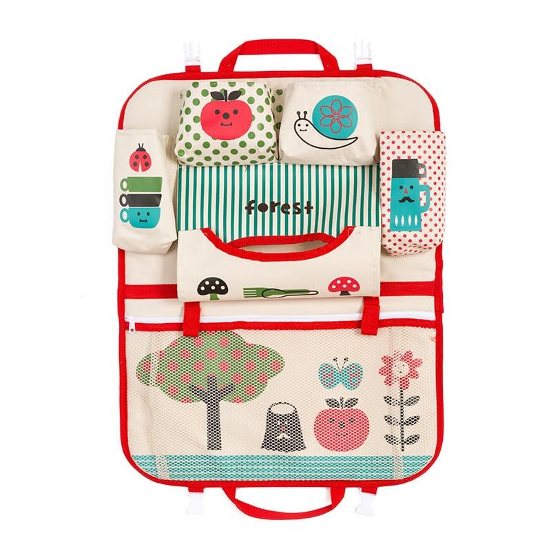 Portable Foldable Car Cartoon Backseat Storage Bag Travel Kids Child Toys Organizer Mother Baby Care