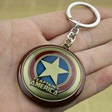 Kaptan Avengers amerika'nın kalkan Süper Kahraman Kaptan Amerika Kalkan Anahtarlık Kolye anahtar zincirleri Cosplay