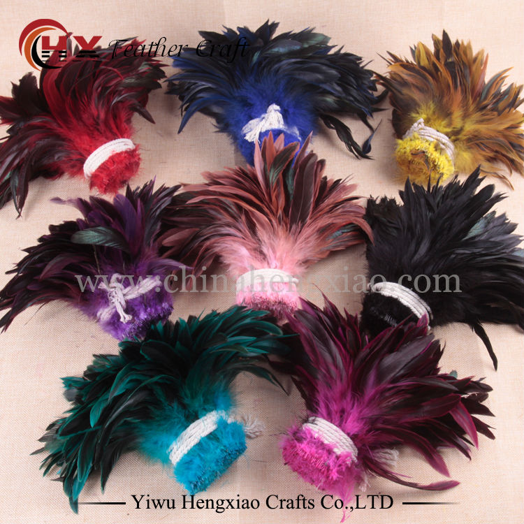 100pcs/lot Cheap Plumas Feather,5-8inch13-20cm Natural Rooster Feathers for Crafts Diy Chicken Feather Jewelry Plume Decoration 2yards lot turkey feather fringe ribbon 5 6inch chandelle marabou turkey feathers trim skirt dress feather decoration plumas diy
