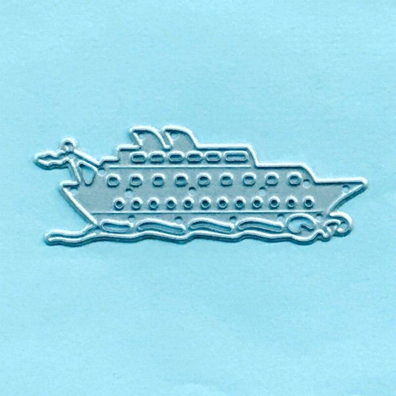 Troqueles de corte de Metal velero barco yate tarjeta álbum de recortes manualidades de papel decoración del hogar en relieve plantilla cortador
