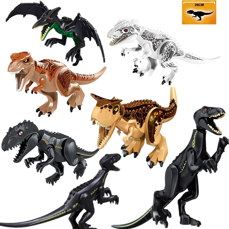 New  Jurassic World 2 Dinosaurs Figures Bricks Tyrannosaurus Rex Indominus Rex I-Rex Assemble Building Blocks Dino Toy