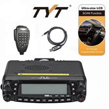 Nouveau TYT TH-9800 PLUS 50 W Quad Band double affichage répéteur voiture jambon Radio + câble de programmation + logiciel