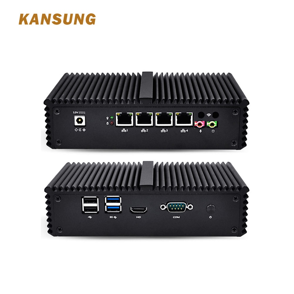 Mini PC Core i5 avec 4 Gigabit LAN Support AES-NI Windows Linux routeur pare-feu industriel petit ordinateur de bureau