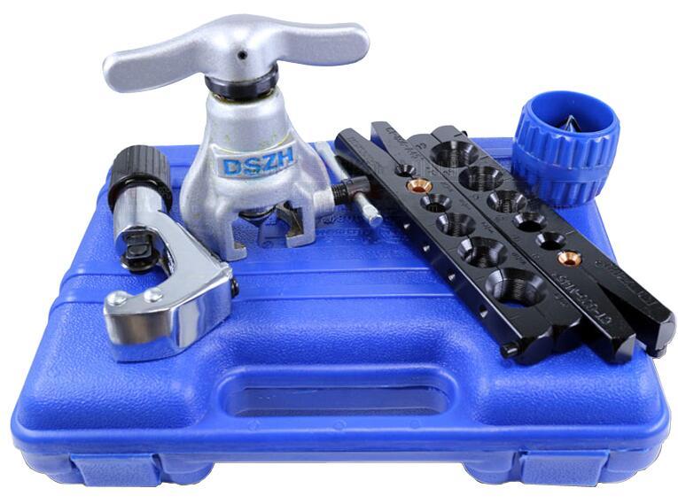 Kit de expansor de Tubo Métrico y pulgadas, envío gratis, pipa de cobre para aire acondicionado, escariador de tubo, herramienta de arado de 6-19mm, 1/4-3/4 pulgadas