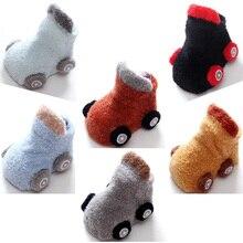 Nouveau dessin animé voiture bébé enfant en bas âge chaussette automne hiver chaud antidérapant bébé chaussette