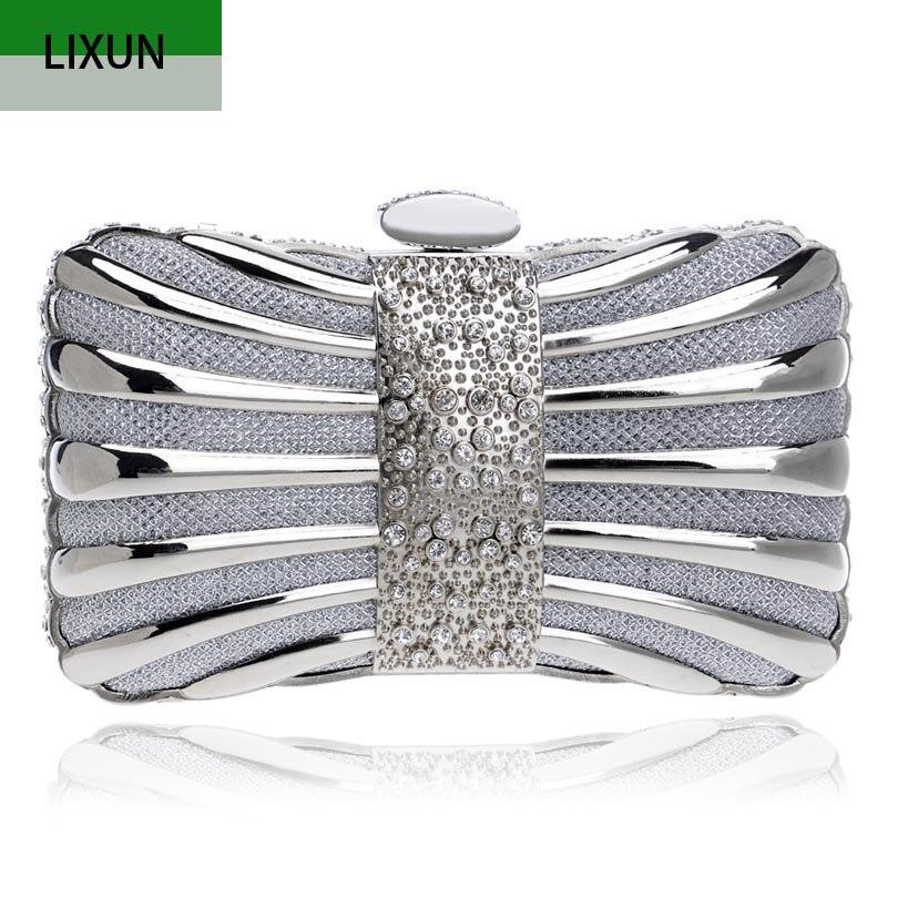 Bolso de mano de diseño de marca de lujo con remaches decorados, bolso de mano para mujer, bolso de noche con diamantes, monederos con cadena, cartera, embragues