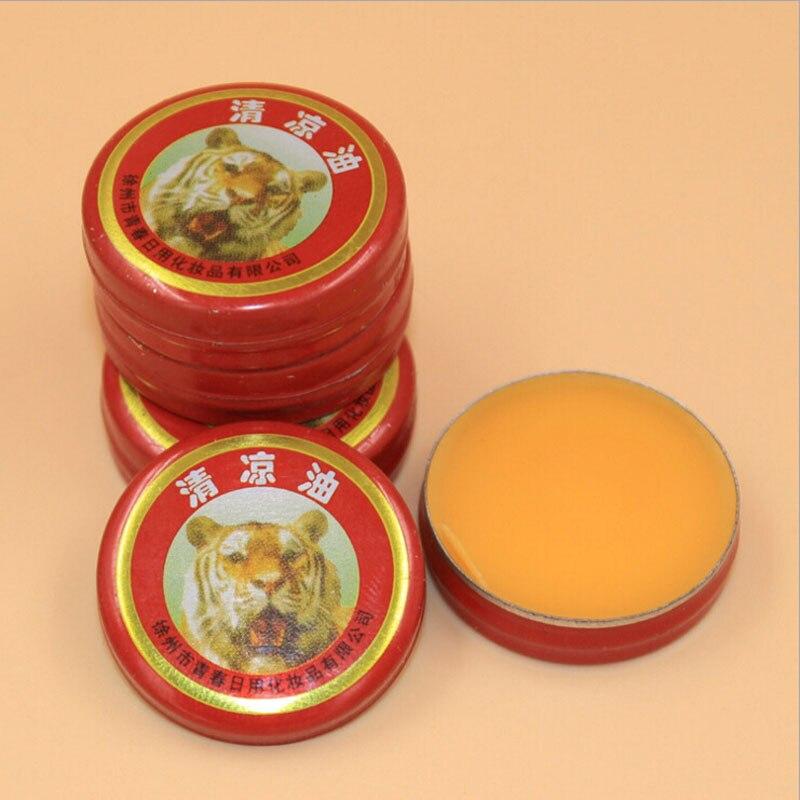 100 unids/lote Tigre masaje muscular Relax aceite esencial bálsamo mágico refrescar el tratamiento de la gripe dolor de cabeza mareo MR008