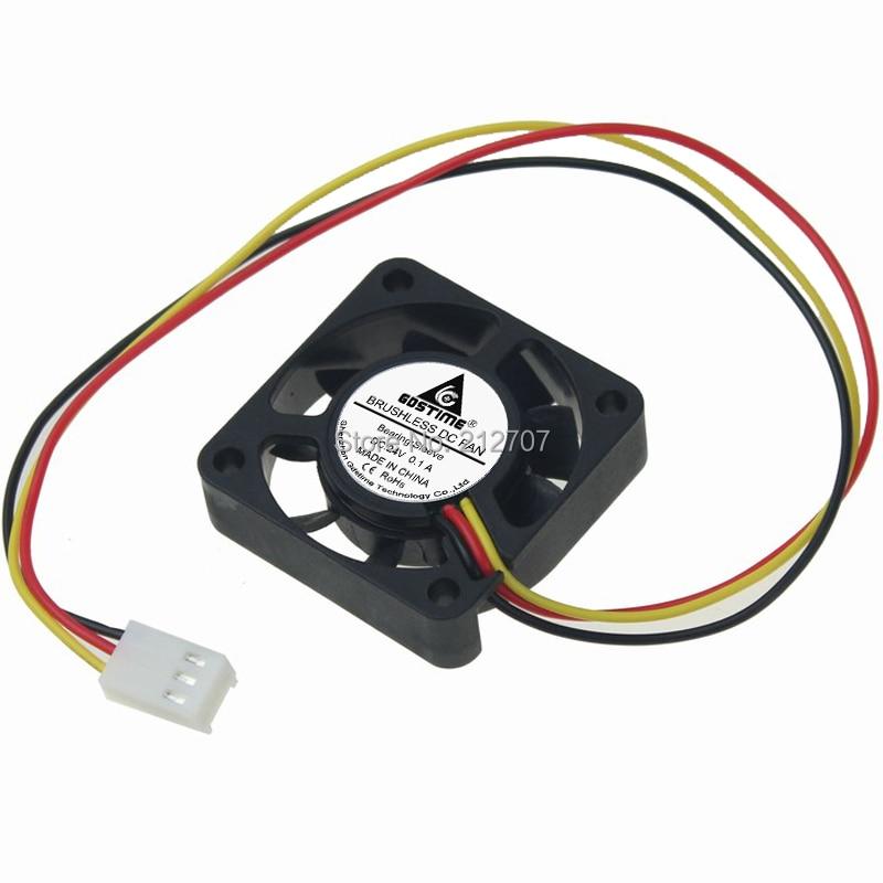 20 pces gdstime 4cm 40x40x10mm 9 lâminas 4010 40mm dc ventilador elétrico do radiador 24 v 3pin