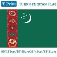 6090cm 90150cm 3045cm car flag 1521cm turkmenistan national flag for world cup