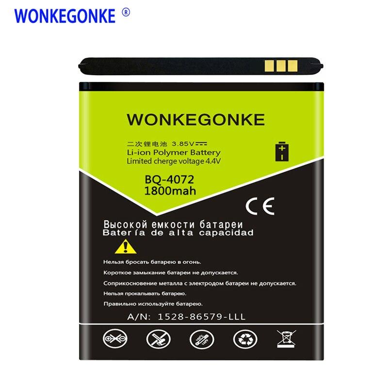 Wonkegonke BQ-4072 bateria para bq 4072 greve mini bateria do telefone móvel