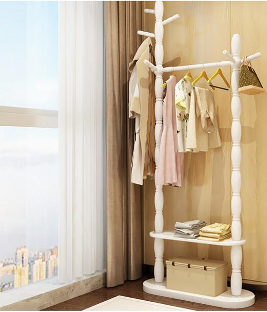 كوتراك أرضية خشب متين للمنزل لتعليق الملابس. رف غرفة النوم.