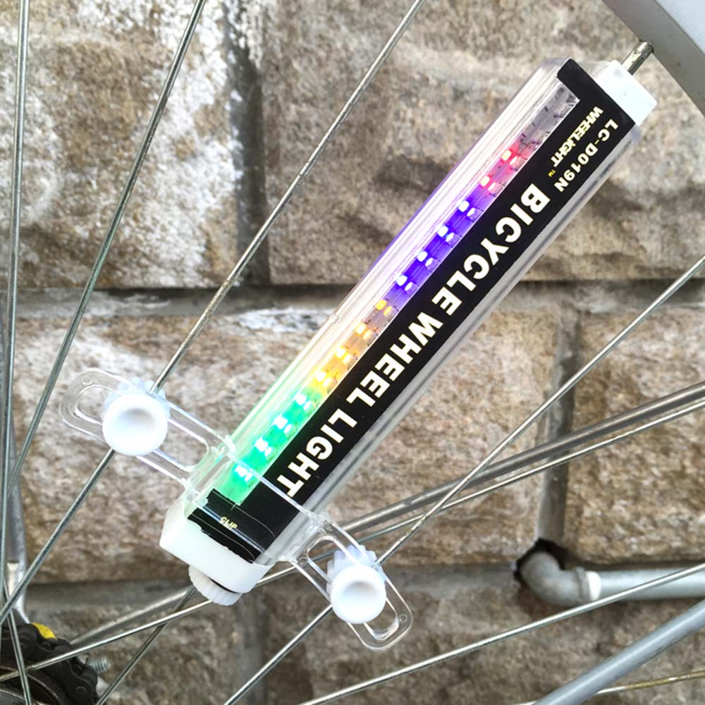Colorido Lanterna Para Bicicleta LED Bike Light 42 Padrões 16 Ciclismo Raios Da Roda LED Lanternas De Bicicleta Resistente À Água