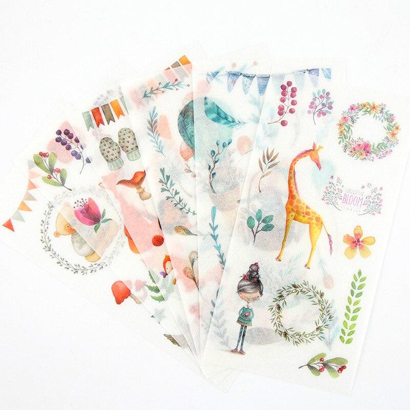 6-fogli-pacco-washi-paper-adesivo-decorativo-fai-da-te-set-di-adesivi-per-scrapbooking-per-bambini-per-diario-pianificatore-di-calendari-per-album