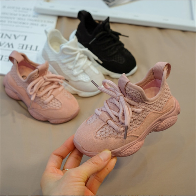 2021 New Spring/Autumn Children Shoes Uni Toddler Boys Girls Sneakers Mesh Breathable Fashion Casual Kids Shoes Size 21-30