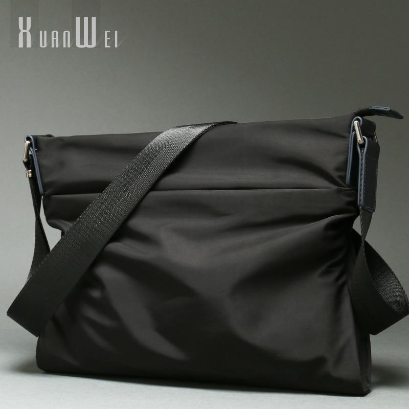 [تسليم من روسيا] أزياء الأسود الرجال أكياس عارضة رجل الكتف أكياس لينة النايلون حقائب قماش أكياس Crossbody رسول أكياس