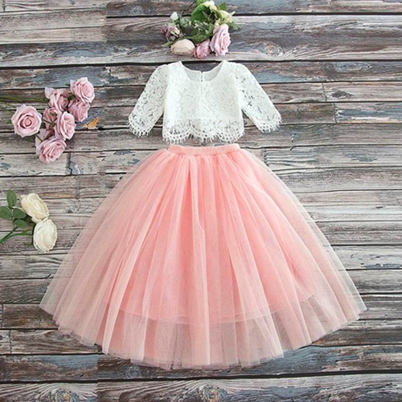 Ropa de verano para niñas, vestidos infantiles para niñas, vestido con flores de encaje para niñas pequeñas, vestido de fiesta de boda para niñas, vestido de princesa de 3 4 5 6 8 años
