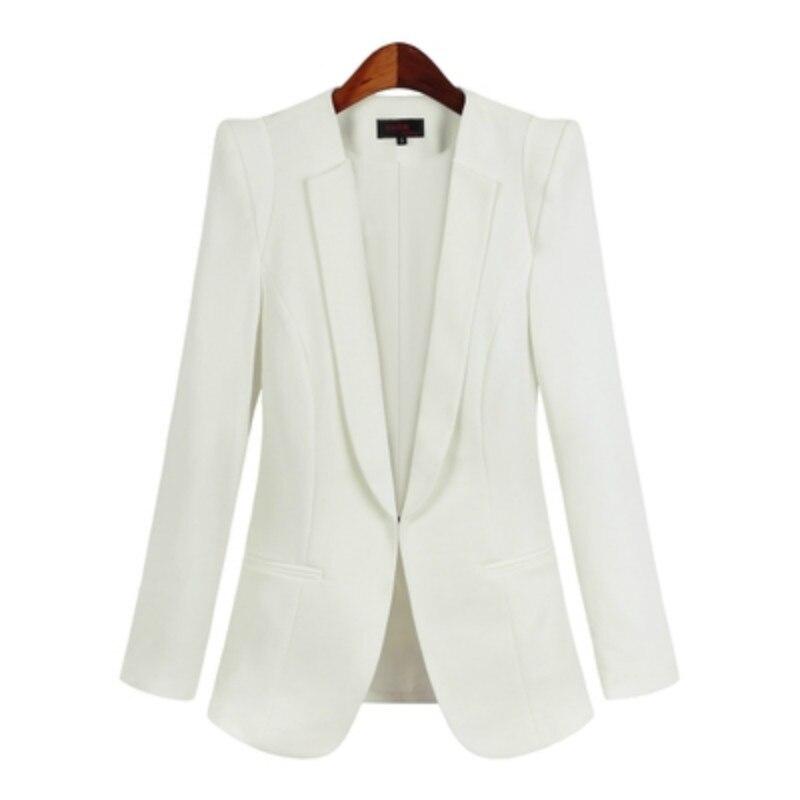 Blazer Women Outerwear  Autumn Womens Blazers White Fashion Ladies office Coat Female size s-5xl