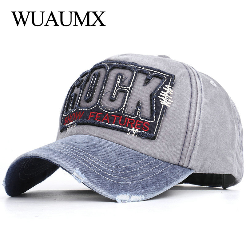 Мужские и женские уличные головные уборы Wuaumx ROCK, бейсболка с надписью, летние бейсболки, бейсболки