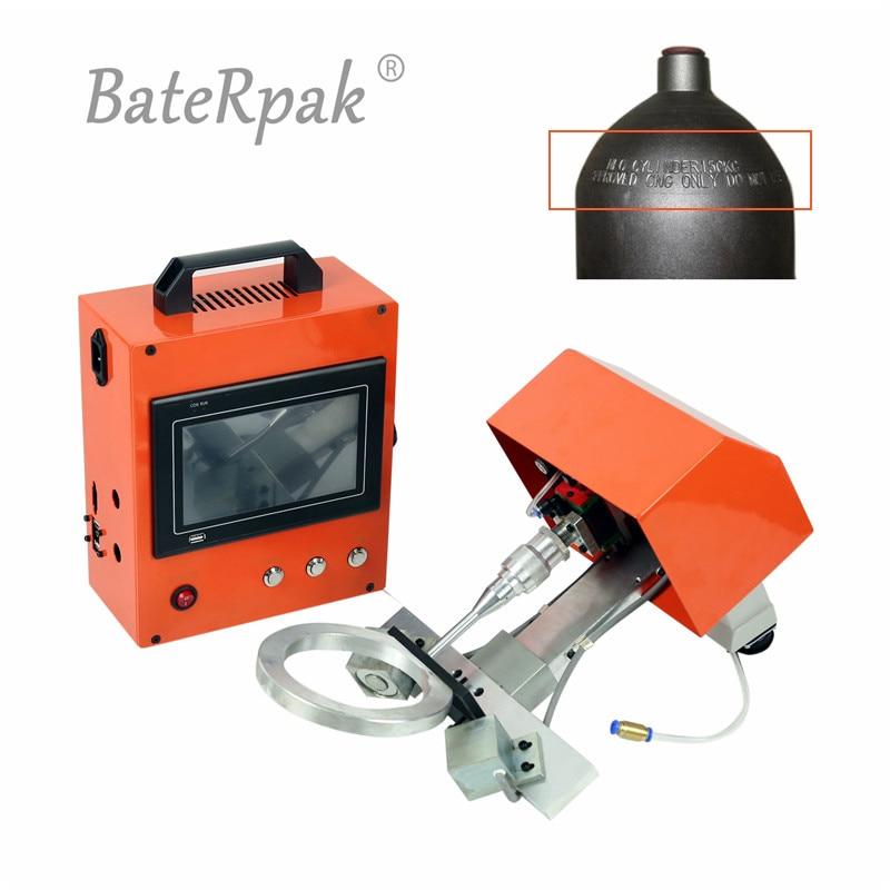 PMK-G01 BateRpak Portable numéro de VIN marquage machine, oxygène, azote, dioxyde de carbone acier réservoir dair numéro de lot imprimante, 80*40mm