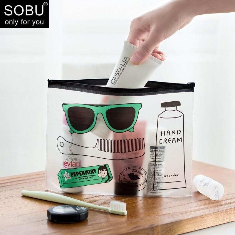 De moda de las mujeres claro bolsos para cosméticos PVC bolsas de aseo viajes organizador belleza necesaria caso maquillaje bolsa de baño lavado bolsa