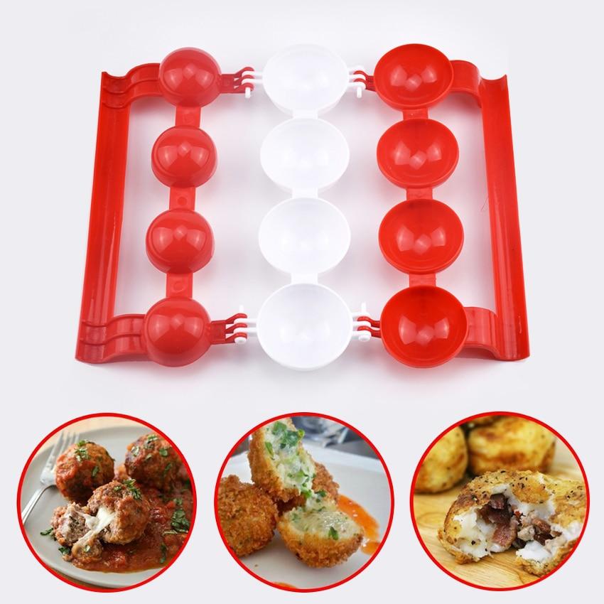 New Creative Plastic Meatballs Maker Fish Balls Molds DIY Stuffed Meat Ball Mold Rice balls Making Cooking Tool Kitchen Gadget
