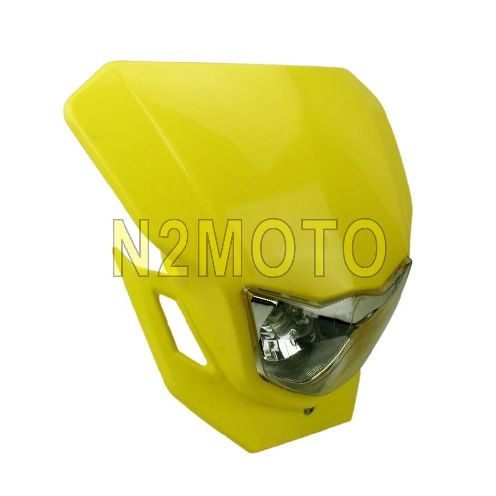 FARO para bicicleta deportiva doble, luz amarilla para moto de cross, faro para Suzuki RMX 450 450Z 250 DR200 RM85 Enduro
