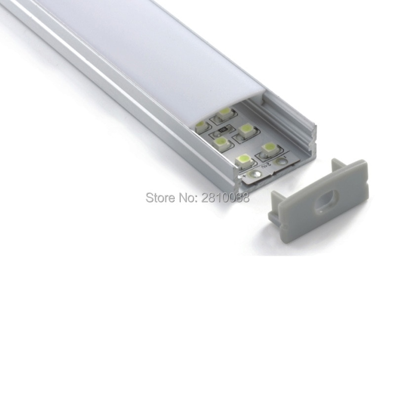 300 X 2M Sets/Lot Top selling aluminum U channel and Rectangle shape led aluminum profile housings for wall ceiling light