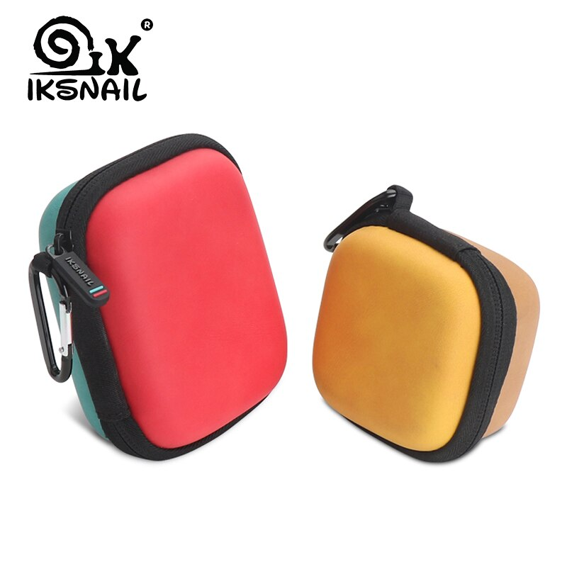 IKSNAIL Headphone Case Bag Portable Earphone Earbuds Hard Box Storage for Memory Card USB Cable Organizer Earphone Digital Bags