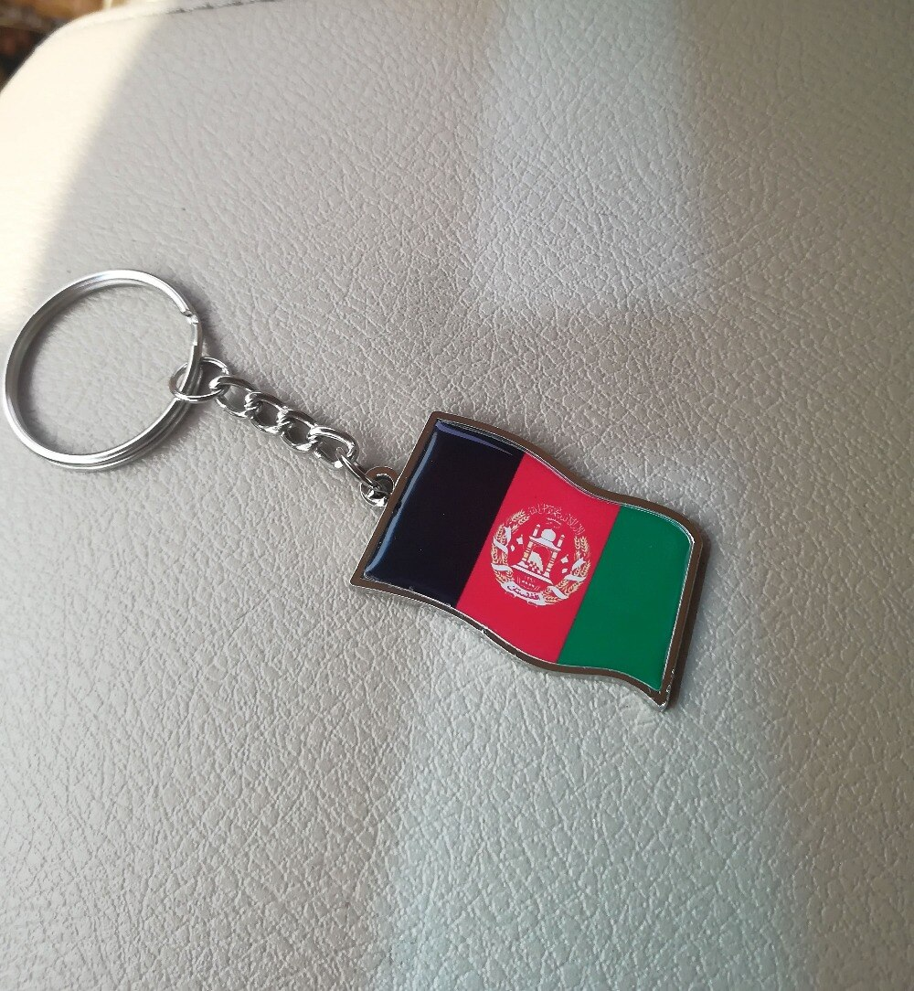 Afghanistan Flagge Banner Afghanischen schmuck halskette armband anhänger Afghani Kabul schlüssel kette schlüsselring geschenk