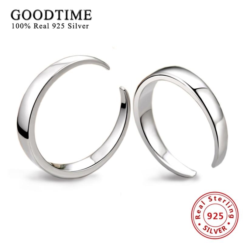 1PCS Ring Design Sonne Mond Paar Ringe 925 Sterling Silber für Liebhaber Frauen Männer Jahrestag Ring Silber 925 Schmuck
