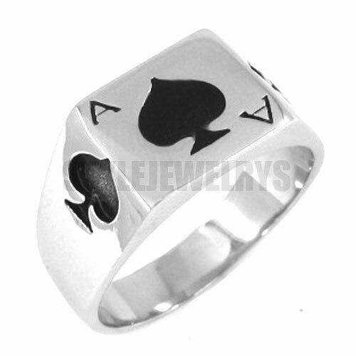 Кольцо из нержавеющей стали Ace of Spades, байкерские мужские кольца с мотором, оптовая продажа SWR0150A