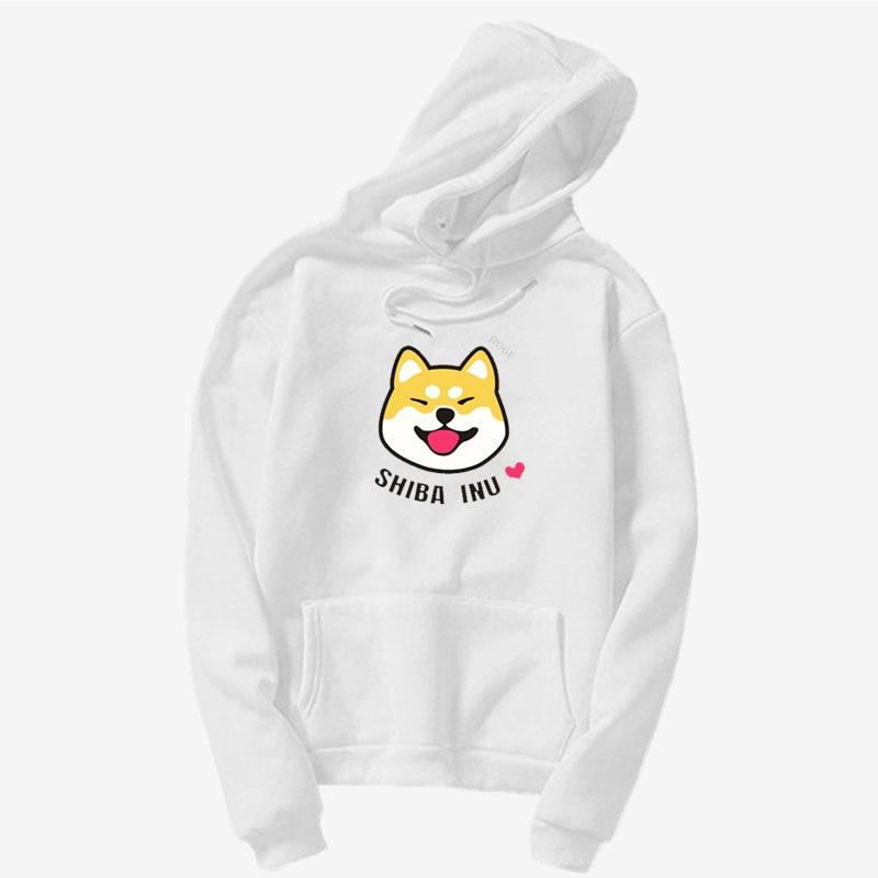 Women's Harajuku Hoodie Kawaii Cute Shiba Inu DogeRelaxing Shiba Inu Sweatshir Japanese Shiba Inu Emoticon Crewneck hoody