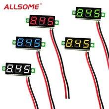 ALLSOME 0.28 pouces 2.5 V-30 V Mini voltmètre numérique testeur de tension compteur écran LED pièces électroniques accessoires voltmètre numérique