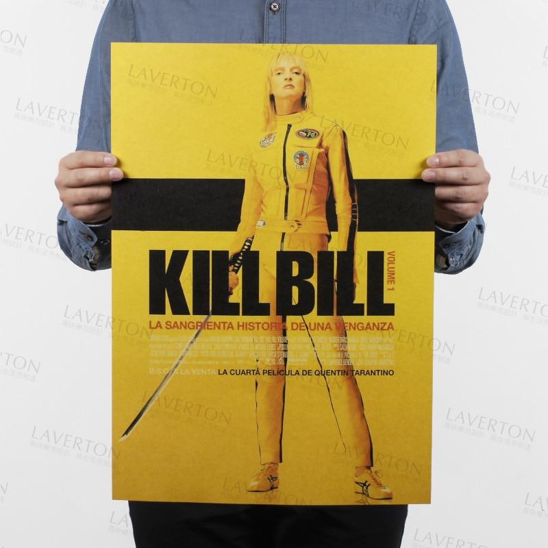 Kill Bill Vol.1/película de Quentin clásica/papel kraft/café/póster para bar/póster Retro/pintura decorativa 51x35,5 cm