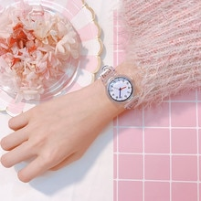 Top Brand Luxury Transparent Women Bracelet Watches Fashion Women Dress Wristwatch Ladies Quartz Spo