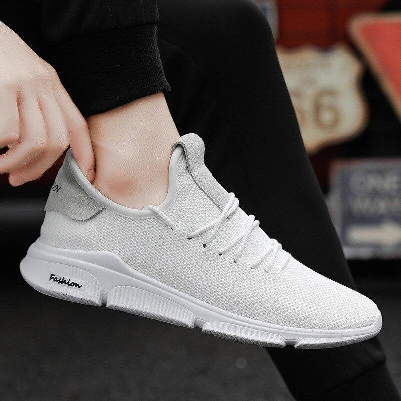 2019 Homens Das Sapatilhas Sapatos Casuais Sapatos de Malha Homens Lace-up Shoes Leve E Confortável Respirável Andando Correndo Zapatos Tenis Feminino
