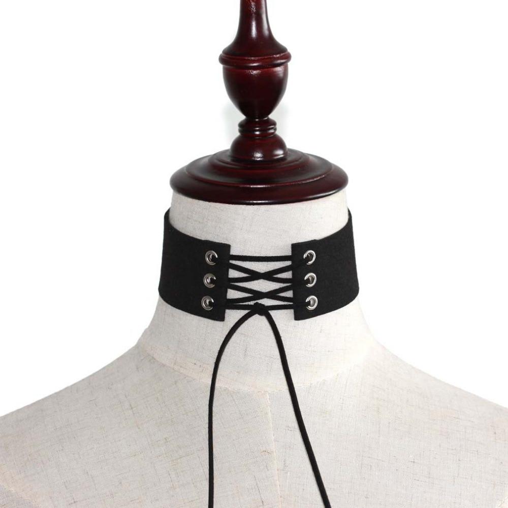 Gargantilla de terciopelo negro gargantilla collar de las mujeres gargantillas góticas joyería Bohemia para el cuello Harajuku Gran Collar fornido de Collier