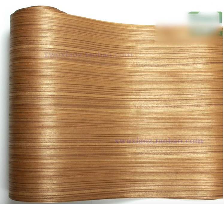2 unids/lote L 2,5 metros ancho 60CM chapa de madera Sapele Tailandia revestimiento de madera de teca (papel kraft trasero)