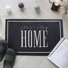 Drop Shipping Nordic Style HOME Bedroom Rugs Floor Mats Coral Velvet Doormat Home Decoration Mat In The Hallway Kitchen Carpet