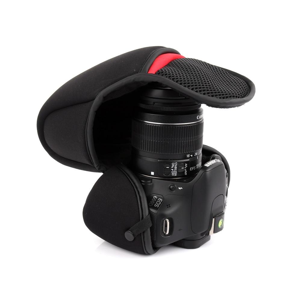 Caso de cámara de paquete suave para Nikon D3400 D3300 D3200 D5100 D5200 D5300 D90 D7000 D7200 D7100 D3100 lente de 18-55mm
