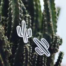 Daisies New Arrivals Pure 925 Sterling Silver Hollow Cactus Stud Earrings For Women Statement Jewelr