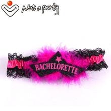 Jarretelles en plumes roses 6 pièces   Pour enterrement de vie de jeune fille anniversaire, accessoires pour mariage et soirée