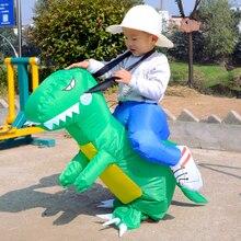 Disfraz infantil de dinosaurio, disfraces inflables para niños, vestido de fiesta, Animal Cosplay, Halloween, 90-150CM
