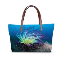 3D  coral print ladies handbag women lovely note pattern handbags handbag+messenger bag+purse multifuction bags