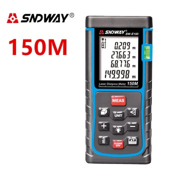 SNDWAY Digital Laser distance Meter 150M 100M 80M 60M 50M 40M Laser Rangefinder Range finder trena Laser Tape measure